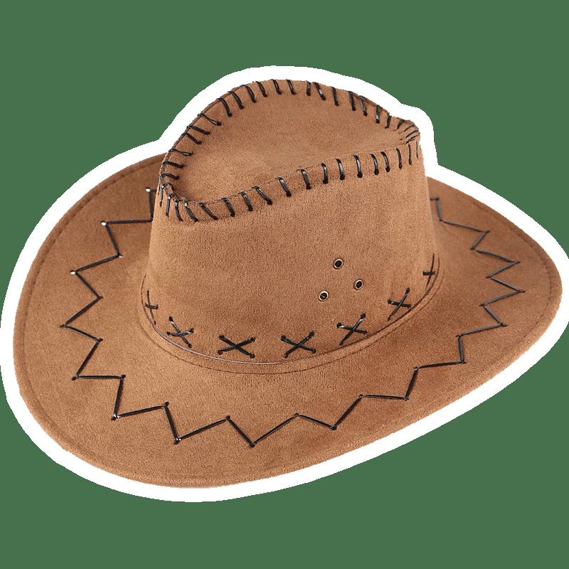 Коричневая шляпа ковбоя