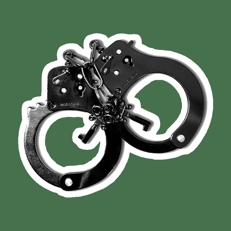 Игрушечные черные наручники
