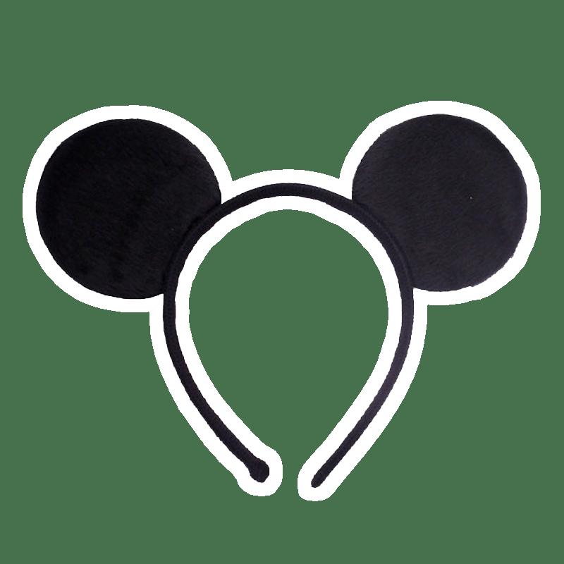 Черный ободок уши микки мауса